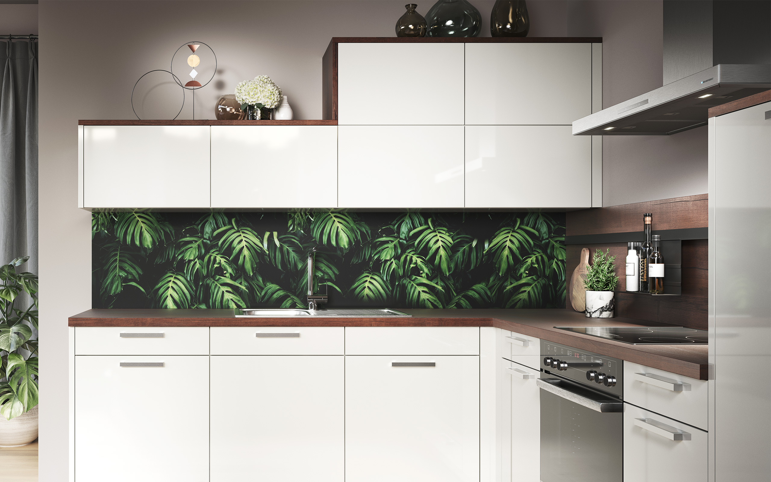 Backsplash panel jungle