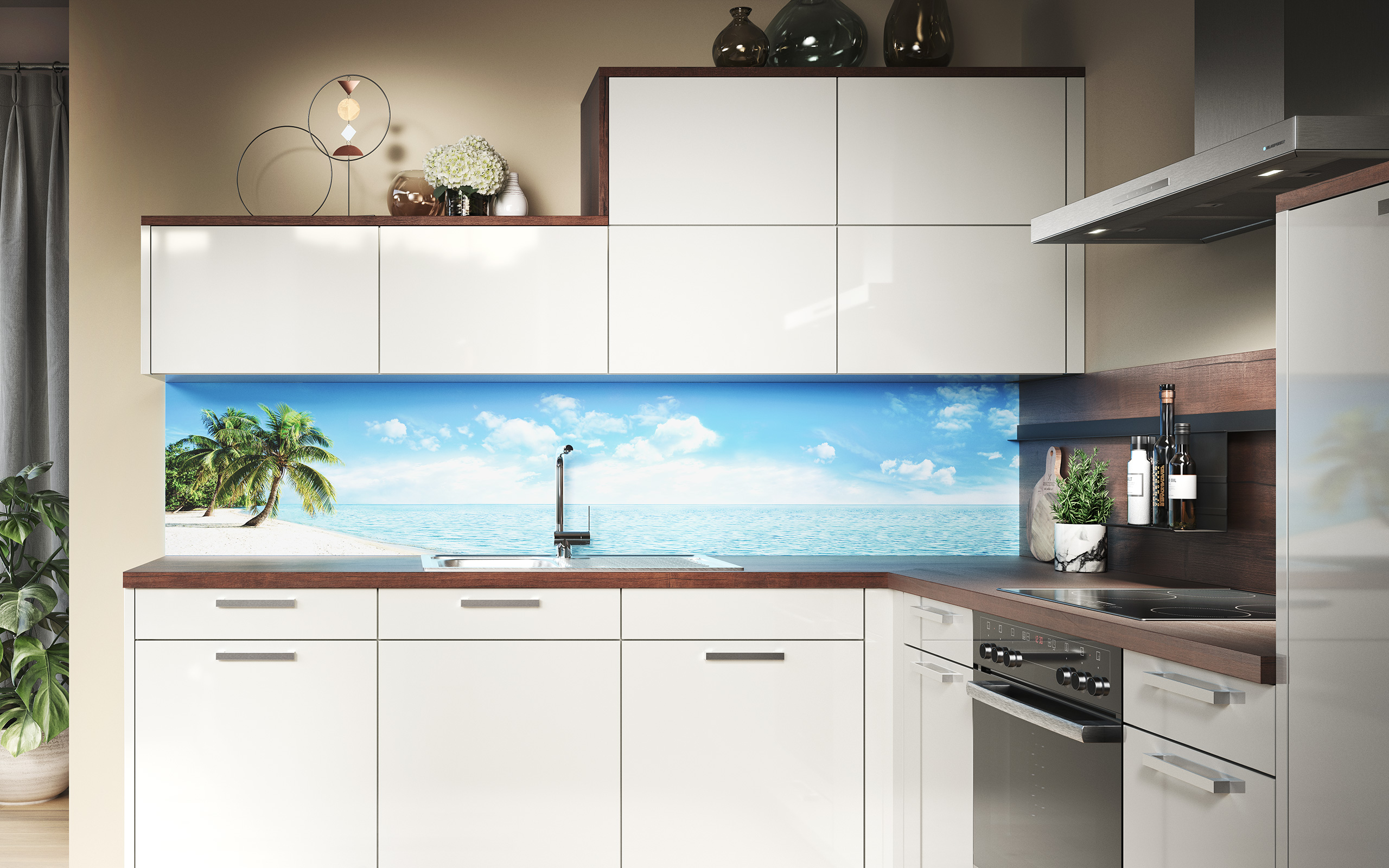 Backsplash panel caribbean