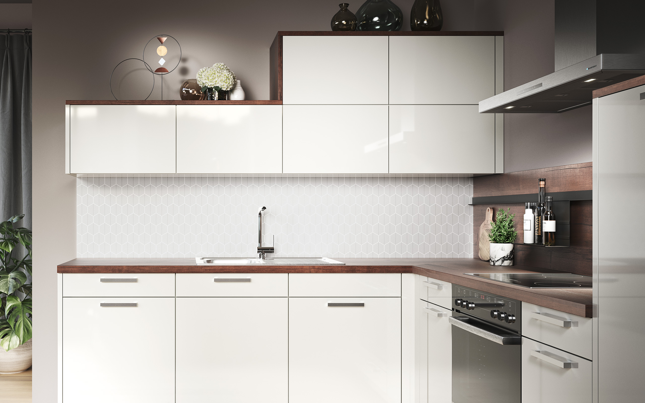 Backsplash panel lava grey